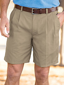 John Blair® Back Elastic Twill Shorts by Blair