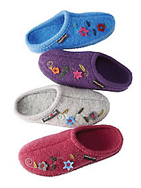 Women's Haflinger Flower Clogs