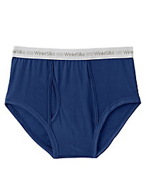 Men's WinterSilks Logo Brief in Washable Silk