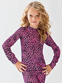 Children's Printed Silk Long Underwear Top | Minti