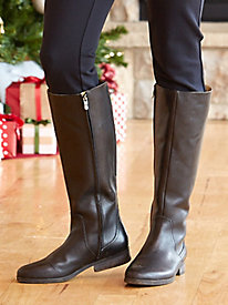 Women's Wide-Calf Leather Boots