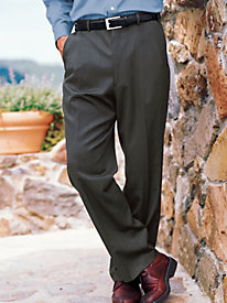 Men's Wool-Blend Auto-Sizer Plain Pants