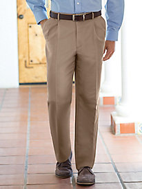 Men's Microfiber Auto-Sizer Pleated Slacks