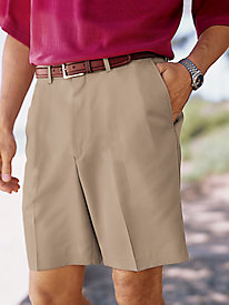 Men's Microfiber Auto-Sizer Plain Front Shorts by Norm Thompson