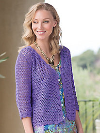 Women's Linen/Cotton Crochet Cardigan