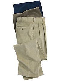 Men's Stretch Corduroy Auto-Sizer Pleated Pants