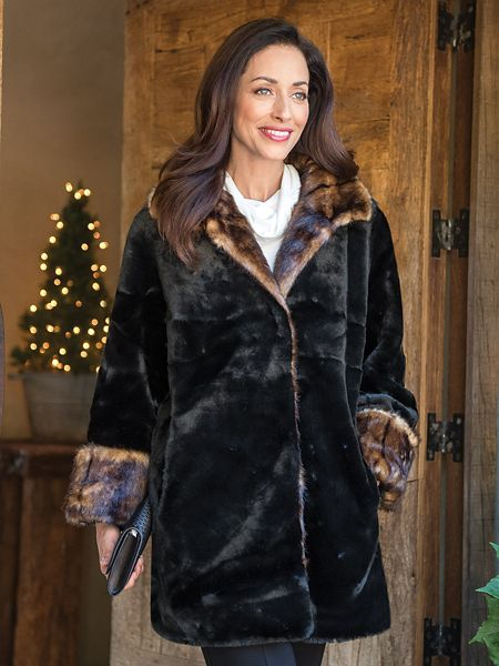 Women's Faux Fur Coat | Norm Thompson