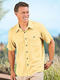 Men's Washable Silk Fly Right Shirt