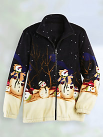 Scandia Fleece� Wrap-Around Print Fleece Jacket