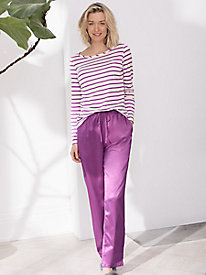 Washable Silk Charmeuse Sleep Pant for Her