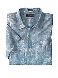 Men's Silk-Cotton Royal Palms Shirt