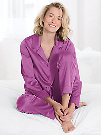 Washable Silk Charmeuse Pajama Set