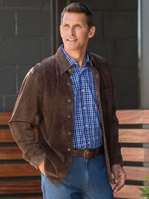 Men's Weather-Ready Suede Shirt Jacket | Norm Thompson