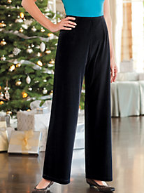Women's Black Velvet Pants