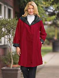 Women's Swing-Style Reversible Raincoat