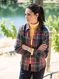Women's No-Iron Foxcroft Plaid Shirt