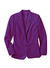 Women's Linen-Look Boyfriend Jacket