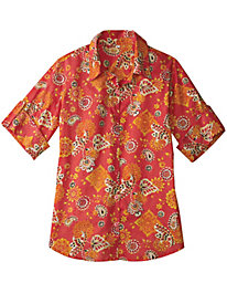 Women's Red Bandana Shirt