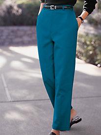 Women's Adjustable-Waist Cotton Twill Pants