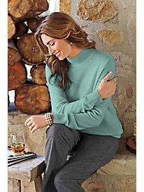 Women's Cashmere Mock Turtleneck Sweater