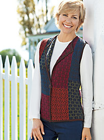 Women's Aurora Patchwork Sweater Vest