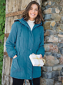 Women's Winter Woods Hooded Microfiber Parka