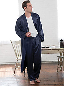 Men's Washable Silk Charmeuse Robe