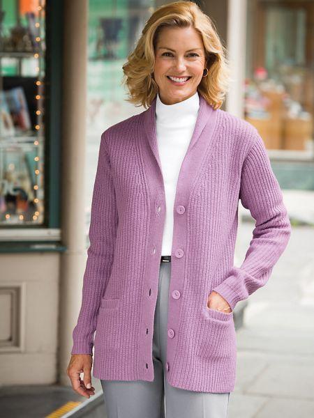 Womens Shaker Cardigan Sweater | Blair