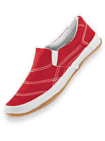 ComfortEase� Canvas Slip-On Sneakers
