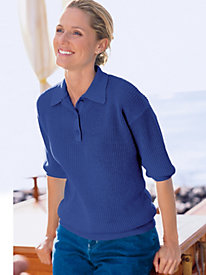 Women's Linen/Cotton Polo