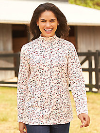 Holiday Print Mock Top