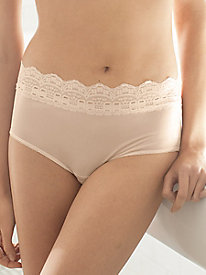 Washable Silk Full Brief with Lace Waistband