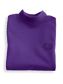 Crested Knit Mock Neck Top
