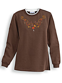 Embroidered Tunic Sweatshirt