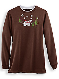 Embroidered Tunic Sweatshirt