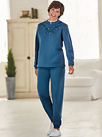Embroidered Fleece Set by Blair