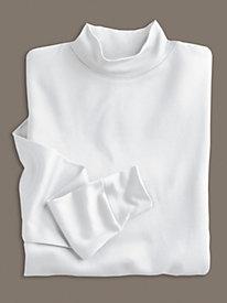 Unisex Long Sleeve Mock in Mid-weight Filament Silk
