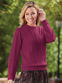 Cabled Knit Sweater