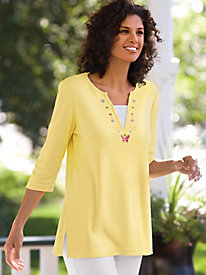Layered Look Butterfly Tunic
