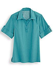 Pullover Poplin Shirt