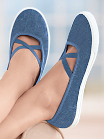 ComfortEase� Criss-Cross Slip-Ons
