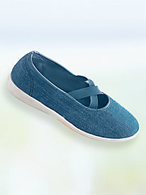 Chrissee Criss-Cross Slip-Ons