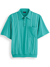 John Blair® Piped Polo