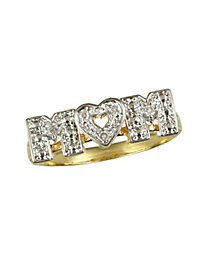 Genuine Diamond Mom Ring by Blair