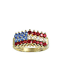 Crystal Flag Ring by Blair