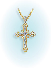 Click here for Filigree & Diamond Cross Pendant prices