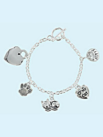 Personalized Cat Charm Bracelet by Blair