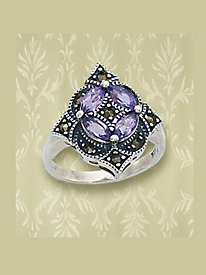 Amethyst Marcasite Ring by Blair