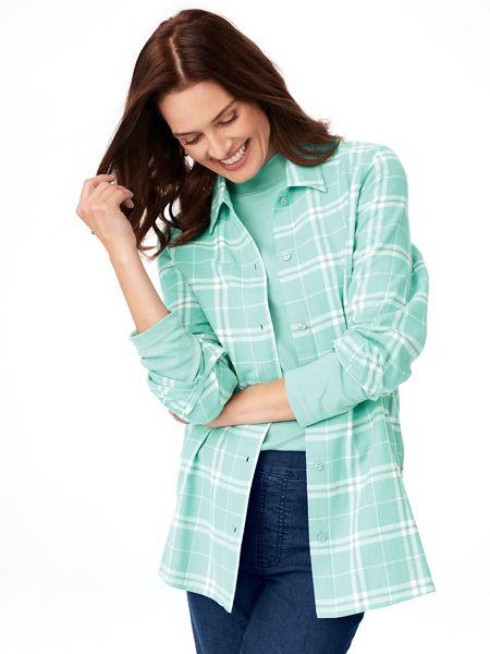 8706e0a94fa47 Ladies Flannel Shirt - Soft, Cotton Flannel Shirt | Blair