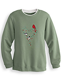 Embroidered Fleece Top